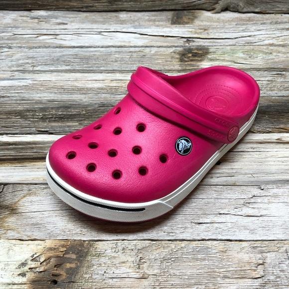 CROCS Other - Crocs Kids' Classic Clog Hot Pink Girls J2